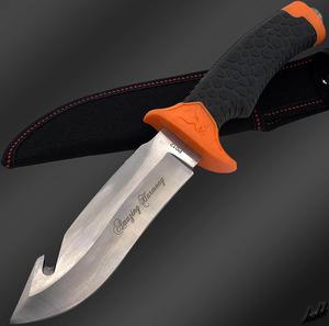 【フルタング構造シースナイフ】 狩猟刀 ステンレススチール 専用ケース キャンプ サバイバル フィッシング 切れ味良好