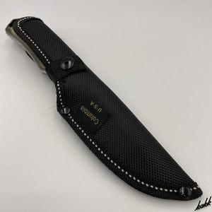 【堅牢な作りのシースナイフ】 狩猟刀 ステンレススチール 錆びにくい お手入れ簡単 ドロップポイント フルタング構造 専用ケース付き