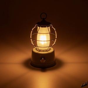 【優しいグリーンカラー】 LED ランタン 無段階調光 レトロ アンティーク インテリア キャンプ アウトドア 防災用ライト ライトグリーン