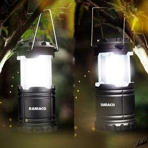 【ポータブルランタン2個セット】 LED ランタン 電池式 スライド式スイッチ コンパクト COBLED 防水 キャンプ アウトドア 防災用ライト
