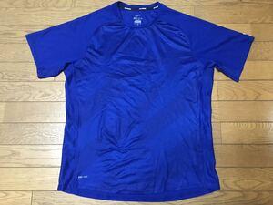 NIKE RUNNING MEN'S TRAINING SHORT SLEEVE T-SHIRTS size-L(着丈70身幅55) 中古(美品) 送料無料 NCNR