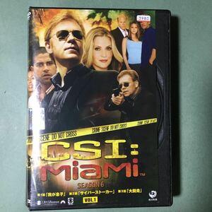 CSI:マイアミ シーズン6 全7枚 第601話〜第621話 最終 全巻セット DVD 海外ドラマ レンタル落ち