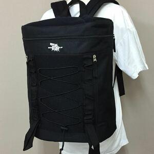 送料無料 大容量 ドラム リュック レディース メンズ 黒 ブラック 高校生 防災リュック 防災 バッグ リュックサック 新品