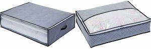 アストロ 布団収納袋 敷布団用 グレー 不織布 171-39 & 羽毛布団 収納袋 シングル用 グレー 不織布 活性炭