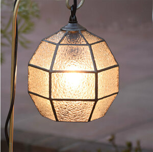 ガーデンライト 吊下げ式 6K-10(吊り金具付)  ステンドグラス ガーデンランプ 庭園灯 外灯 屋外照明 LED 電球 対応 洋風 ガーデン照明