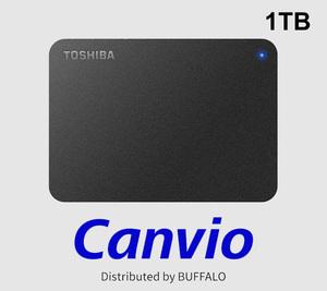 《 東芝 Canvio ポータブルHDD 1TB 》未使用品/ Buffalo HD-TPA1U3-B USB接続●そのB