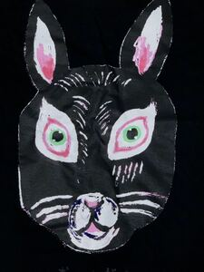 おともだち 半袖Tシャツ Lサイズ うさぎ 黒ウサギ rabbit aroundaglobe