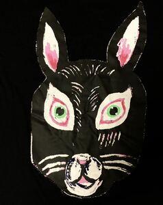 おともだち 半袖Tシャツ Mサイズ うさぎ 黒ウサギ rabbit aroundaglobe