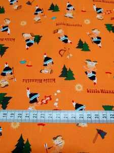 【商用利用不可】生地  コッカ ディズニー リトルハイアワサ オックス オレンジ 生地巾×30cm