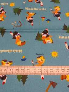 【商用利用不可】生地 コッカ ディズニー リトルハイアワサ オックス ブルー 生地巾×30cm
