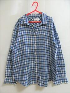 f7596n 美品★組曲×klasikine社生地 麻混 チェックシャツ 2 リトアニアリネン 高級 上質