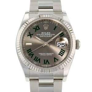 ロレックス デイトジャスト36 SS/K18WGホワイトゴールド ランダムシリアル ルーレット 126234 ROLEX 【送料無料】