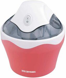 新品 送料無料 アイリスオーヤマ アイスクリームメーカー ストロベリー ICM01-VM 薄いレッド 赤 ピンク 手作りアイス コンパクト