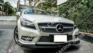 ★BENZ W218 CLS350 CLS550 AMG カーボン フロント リップ スポイラー V型 2011-2014