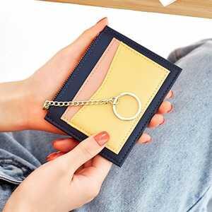 パスケース 定期入れ 財布レディース 二つ折り財布 カード入れ カードケース イエローネイビー