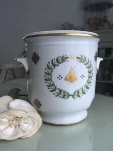 フランス リモージュ ロールセリニャック エンパイヤ コレクション ナポレオンビー 蜂 月桂樹 鉢カバー
