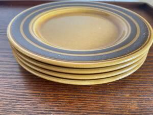 イギリス製 ビンテージ デザートプレート 4枚 16.5cm /コーヒー・紅茶・ミッドセンチュリー/200-5