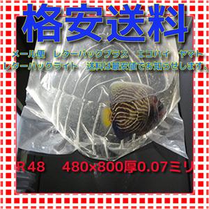 ★ R-48 40枚  丸底ビニール袋 パッキング袋 送料格安 領収書発行可 同梱まとめ買い送料激安 未使用