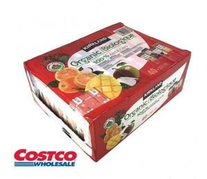 ■大容量■ カークランド オーガニック 100%ジュース 200ml×40本(オレンジ、ミックスベリー、アップル、マンゴーオレンジ 各10本) 034