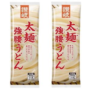 さんきん〓送料無料 さぬきシセイ 讃岐 太麺 強腰うどん 300g 2袋 メール便 定形外郵便