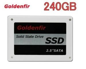 高品質 SSD Goldenfir 240GB SATA3 / 6.0Gbps 新品 2.5インチ 高速 NAND TLC 内蔵 デスクトップPC ノートパソコン