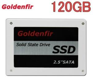 高品質 SSD Goldenfir 120GB▲SATA3 / 6.0Gbps 新品 2.5インチ 高速 NAND TLC 内蔵 デスクトップPC ノートパソコン