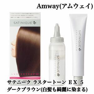 【新品・未使用】Amway(アムウェイ) サテニーク ラスタートーン EX 5 ダークブラウン