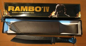 RAMBO FIRST BLOOD RAMBO4 ランボー4 サバイバルナイフ ブラックブレード 革巻きハンドル