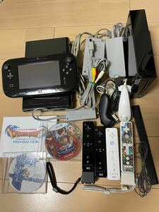 任天堂 WiiU Wii セット すぐに遊べる スプラトゥーン マリオカート8 ドラゴンクエスト等ソフト5本
