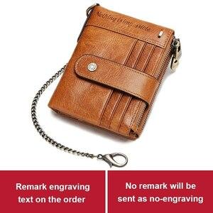 ★新品上質★ メンズ財布 二つ折り 本革 牛革 チェーン付き 小銭入れあり紳士 短財布 2色選択 RT483