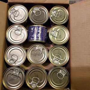 さば水煮缶詰24缶一箱。!