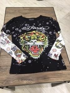 エドハーディー ED HARDY メンズ長袖Tシャツ Lサイズ 新品 ダブルスリーブ タイガー