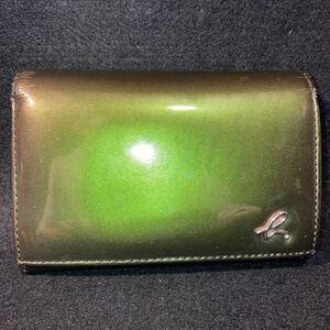 agnes b.VOYAGE アニエスベーボヤージュ 折りたたみ財布 ブランド サイフ 緑 グリーン 服飾小物 ブランド レディース