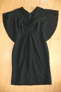 NOVESPAZIO ノーベスパジオ ひざ丈ワンピース 黒 サイズ38/M きちんと フォーマル 華やか フェミニン 式 パーティ