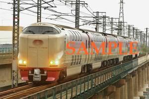 D-19西【鉄道写真】L版4枚 285系 サンライズ出雲 (2)