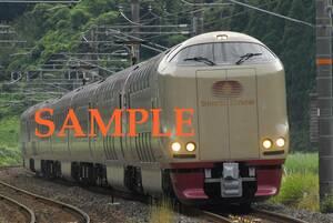 D-19西【鉄道写真】L版4枚 285系 サンライズ出雲 (1)