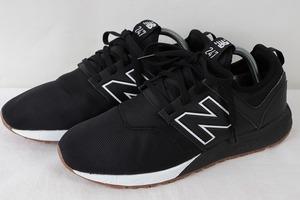 247 ニューバランス 26.5cm/new balance 黒 ブラック 白 中古 古着 スニーカー メンズ yy2923