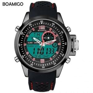 激安♪Boamigo トップブランドの高級時計男性スポーツ腕時計アナログデジタル腕時計発光ミリタリークォーツ腕時計レロジオ masculino