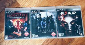 PS3ソフト バイオハザード オペレーションラクーンシティ・ バイオハザード6・フィアー3