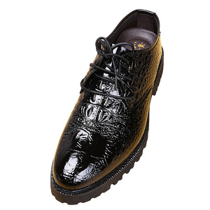 メンズ ビジネスシューズ ドレスシューズ フォーマル レザーシューズ ワニ柄 革靴 ローファースリッポン 紳士靴 黒 24cm~27cm