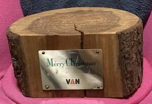 超激レア!!当時物!! VAN JAC VAN JACKET『クリスマス 本物の切り株』ヴァンジャケット バンジャック 直径約30cm/高さ約14cm/重量約5キロ