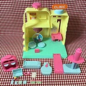 used おもちゃ 「 ヒミツのここたま ハンドソープのここたまクリニック 」/欠品なし / 外箱焼けあり / 説明書あり ここたま 人形あそび