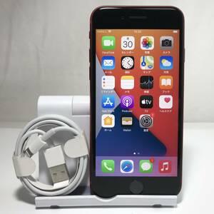 美品 バッテリー最大容量:96% 国内版 (Apple Store版) iphoneSE(第2世代) 128GB レッド SIMフリー 送料無料 /YZX9269
