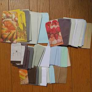 ◇ハンドメイド ポチ袋◇封筒リサイクル<無地・クラフト紙・柄>大きさ4種類 全63枚