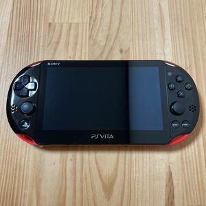 036【送料無料・液晶美品】 PS Vita 本体のみ Wi-Fiモデル PCH-2000 レッドブラック