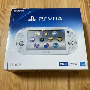 049【送料無料・液晶美】 PS Vita 本体一式 Wi-Fiモデル PCH-2000 ZA12 ホワイト