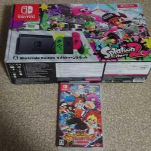 送料無料 Nintendo Switch スプラトゥーン2セット ソフト遊戯王付き