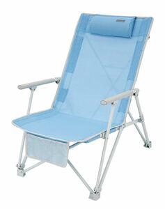 ハイバック ビーチチェア あぐら アウトドアチェア 折りたたみ テスリン ガーデン キャンプ レジャー 椅子 設置簡単 コンパクト チェアー