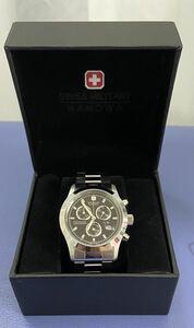 SWISS MILITARY HANOWA スイスミリタリー  HANOWA エレガントクロノ ML-244(メンズ)腕時計 中古美品 税送料込み