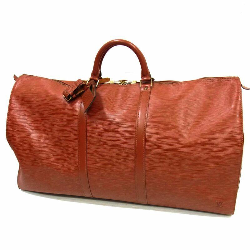◎ルイヴィトン ボストンバッグ エピ キーポル60 フランス製 旅行鞄 大きいサイズ LOUIS VUITTON メンズ レディース 高級 正規品 鞄 1円